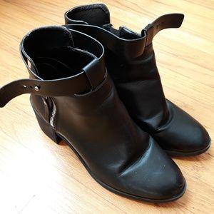 Black chunky booties